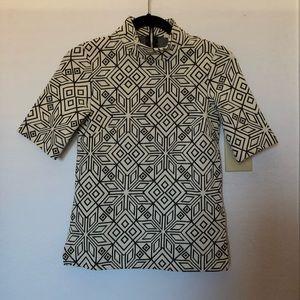 Geometric pattern top
